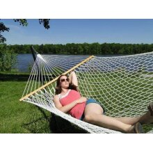 XL Polyester Rope Hammock Double-White