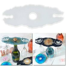 Wine Rack Tray Silicone Mold Wine Glass Holder Epoxy Resin Mould Tool DIY Kit