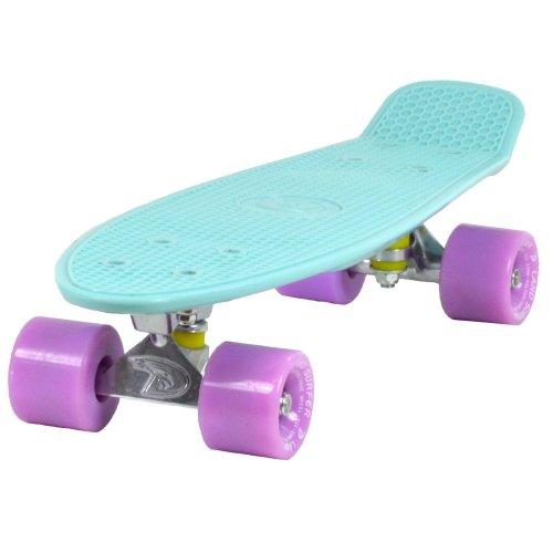 "Land Surfer Cruiser Skateboard 22"" Ice Blue Board - Ice Purple Wheels"