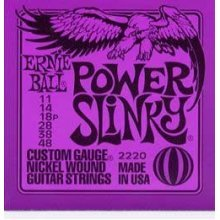 Ernie Ball Power Slinky Electric Guitar Strings 11-48