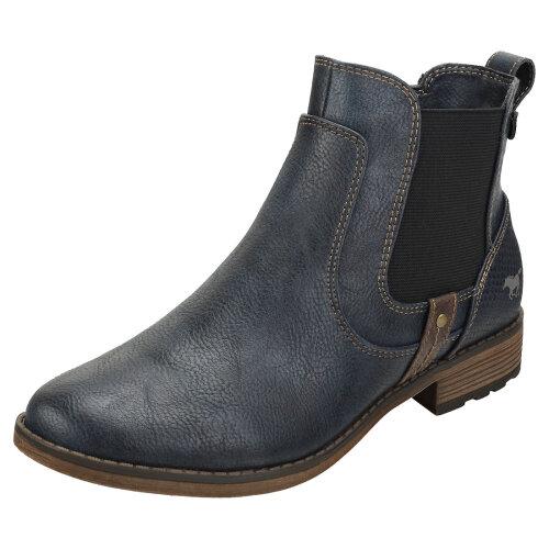 Mustang Side Zip Low Heel Womens Chelsea Boots