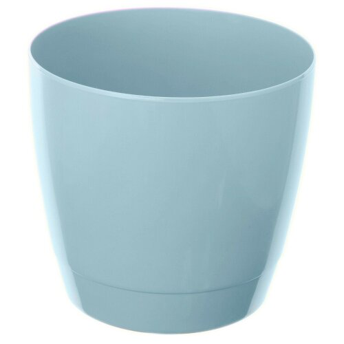 Set Of 4 Indoor / Outdoor Round Large Plant Pots 20cm Planters Blue