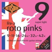 Rotosound Nickel Super Light Gauge Double Decker Electric Guitar Strings (9 11 16 24 32 42)