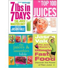 7lbs in 7 Days, The Top 100 Juices, The Juices and The Juice Master's 4 Books Collection Set