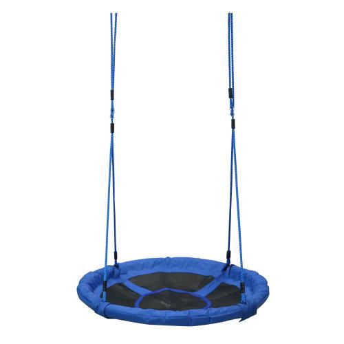 Homcom Round Children Kids Tree Swing Seat Nest Swing Chair For Outdoor Backyard Garden Play Activity W Hanging Kit 100cm 40 Inch On Onbuy