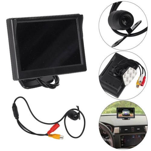 "Wired Car Kit Reversing Camera 170°+ 5""TFT LCD Monitor Rear View Kit UK Stock"