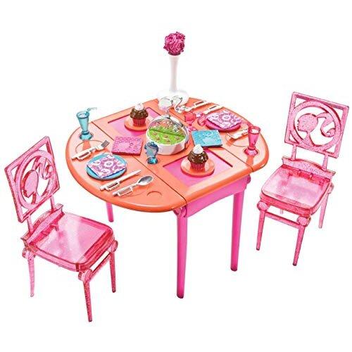 Barbie Dinner To Dessert Dining Room Set