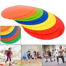 FLAT Round Rubber Training Cones Sport Spot 10 Discs