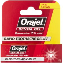 Orajel - Dental Gel - Relief of acute toothache - with Benzocaine - 5.3g