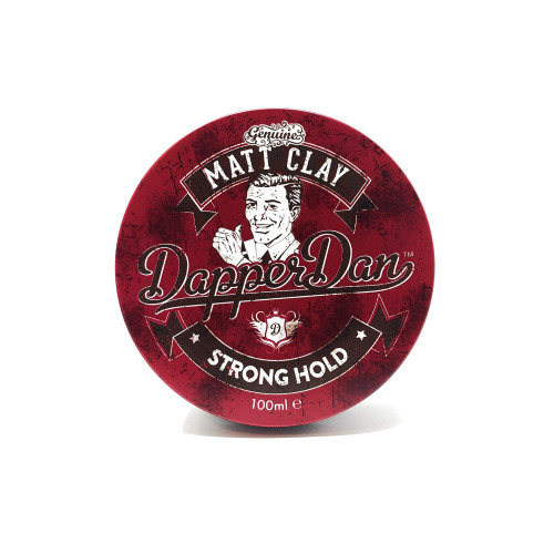 Dapper Dan Strong Hold Matt Clay- Offers A Strong Hold With A Fantastic Matt Finish, Great For Those Messy Mens Hair Styles- 100ml