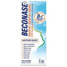 Beconase Hayfever Nasal Spray for Adults Non Drowsy 100 Sprays