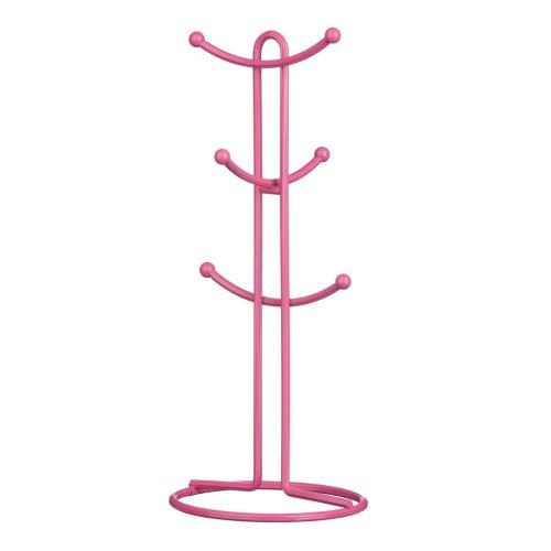 Helix 6-Cup Mug Tree - Hot Pink