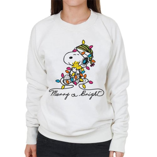 Peanuts Merry And Bright Snoopy Christmas Women's Sweatshirt