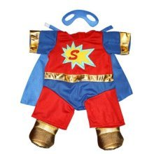 "Super Bear Outfit Fits Most 8""-10"" Webkinz, Shining Star and 8""-10"" Make Your Own Stuffed Animals and Build-A-Bear"