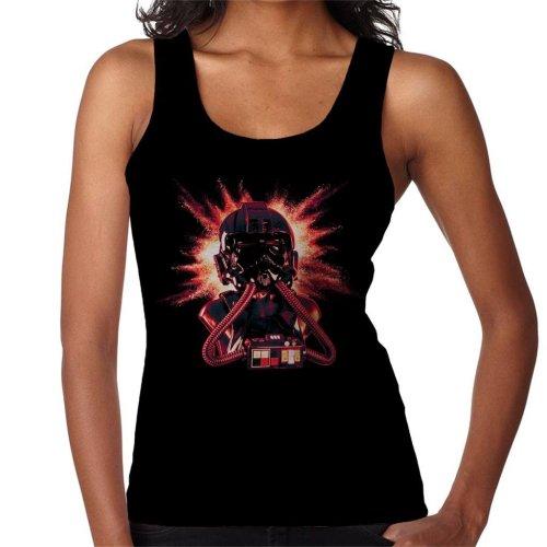 Original Stormtrooper Imperial Pilot TIE Helmet Explosion Women's Vest