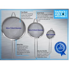 Taylors Eye Witnessn Professional Sieve Set/food strainer
