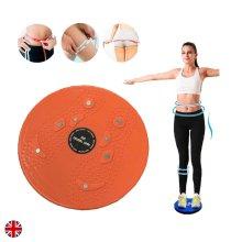 Waist Twist Torsion Disc Board Aerobic Exercise Fitness Reflexology Magnets UK