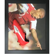 Framed Thierry Henry signed Puma football boot with COA & proof