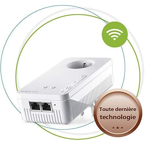 Devolo Magic 1 WiFi: Powerline adapter for WiFi ac throughout the home via the electrical network, WiFi mesh, ideal for teleworking and streaming