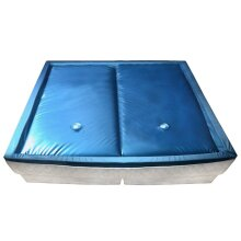 vidaXL Waterbed Mattress Set with Liner and Divider 200x200cm F3 Hardside Pad