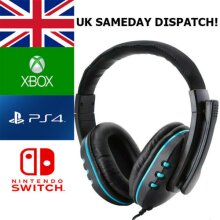 Gaming Headset For Xbox One, PS4, PS5, Nintendo Switch & PC 3.5mm Headphones ships from UK