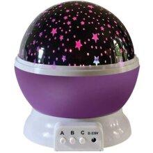 LED Rotating Projector Starry Night Star Sky Light Kids Bedside Lamp