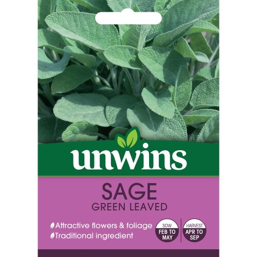 Unwins Grow Your Own Delicious Green Leaved Sage Herb Seeds