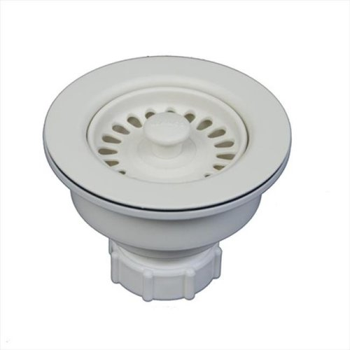 3.5 in. Sink Waste Flange in Biscuit