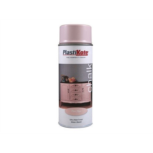 Plasti-kote PKT27105 Chalk Finish Spray Pale Rose 400ml