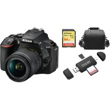 NIKON D5600 KIT AF-P 18-55MM F3.5-5.6G VR+64GB SD card+Bag+Card Reader