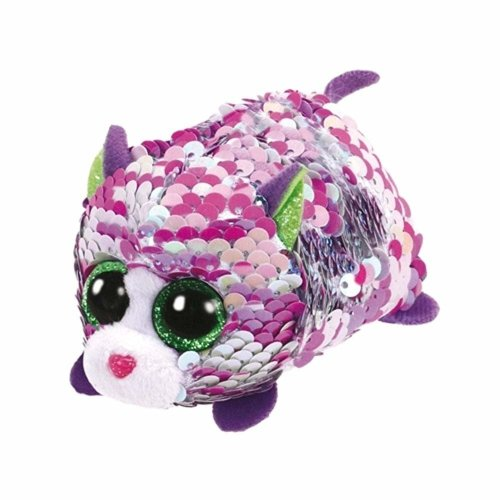 TY Flippable Sequins Lilac Cat Teeny Ty