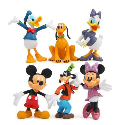 6pcs Disney Mickey Mouse Figure Cake Topper Toy Gift