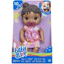 Baby Alive Baby Lil Sounds Interactive Black Hair Baby Doll E3689