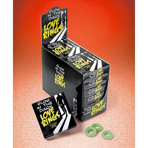 Glow in the Dark Love Rings - 3 Pack