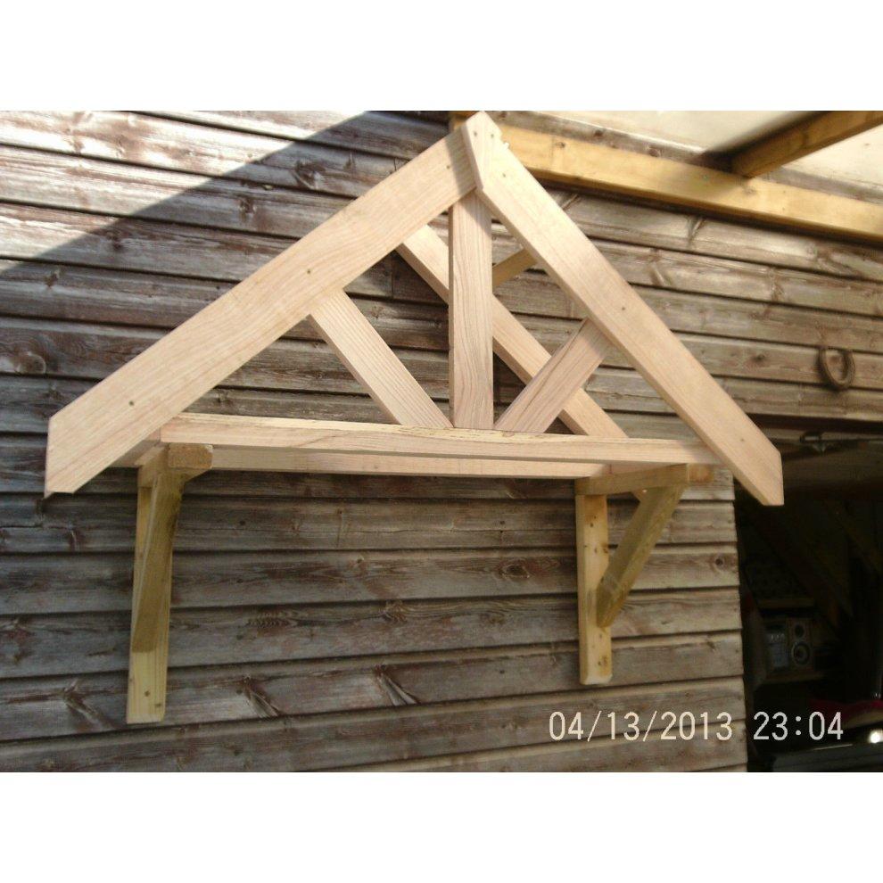 Oak Front Door Canopy Size 1 On