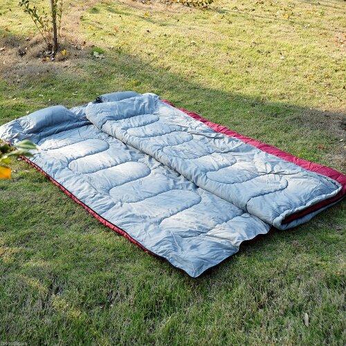 Outsunny Double Sleeping Bag Camping Climbing Trip Use Envelope