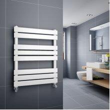 Juva 800 x 600mm White Flat Panel Heated Towel Rail