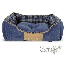 Scruffs Highland Box Dog Bed - Blue, Medium