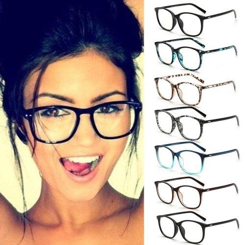 Fashion Brand Women Sunglasses Eyeglasses Frame Retro Vintage Clear Lens Glasses Metal Plain Optical Eye Glasses  feminino