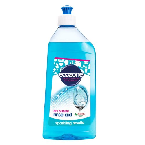 Ecozone Dishwasher Rinse Aid, 500ml, Active Quick Dry Action, Sparkling Results