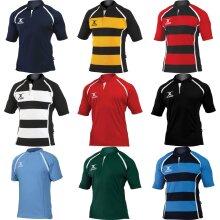 Gilbert Rugby Childrens/Kids Xact Match Short Sleeved Rugby Shirt