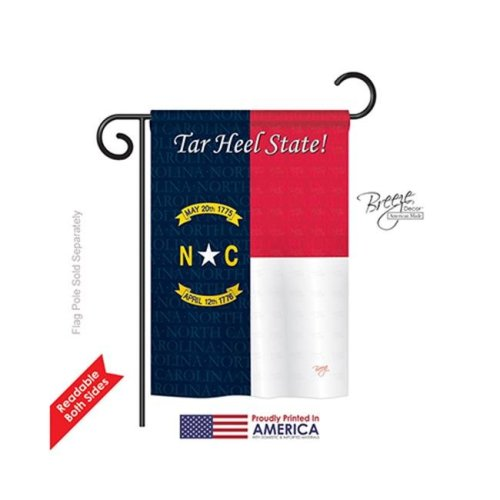 Breeze Decor 58087 States North Carolina 2-Sided Impression Garden Flag - 13 x 18.5 in.