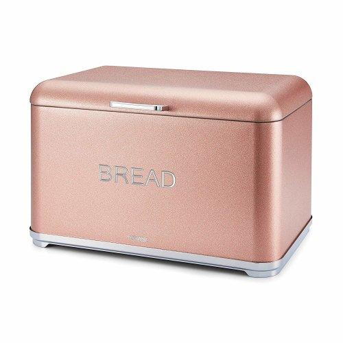 Tower T826014R Kitchen Bread Bin, Glitz Range,Blush Pink