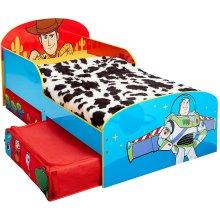 Disney Toy Story 4 Kids Toddler Bed with Storage Drawers by HelloHome, 143cm (L) x 77cm (W) x 63cm
