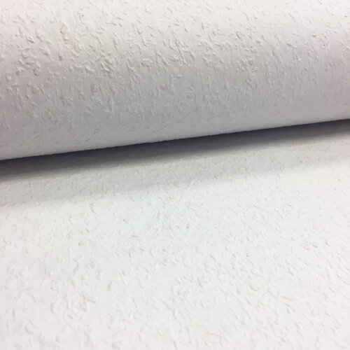 Hardwearing Fine White Woodchip Plain Paintable Wallpaper Decoration