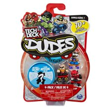 Tech Deck Dudes 4 Pack collectible Skater Figures with Boards Styles and colors May Vary
