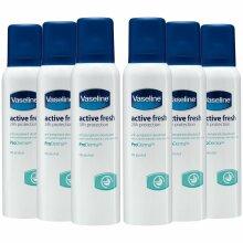 6pk Vaseline Active Fresh ProDerma Antiperspirant - 6 x 150ml