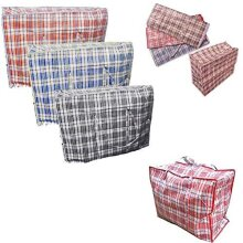 KAV 10 x Laundry Bags Reusable Large & EXTRA LARGE Zipped Shopping Storage Strong XL Bag (63 * 58 * 22)