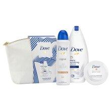 Dove Nourishing Beauty Wash Bag & Shower Gift Set, Present For Women, Girls, Mum
