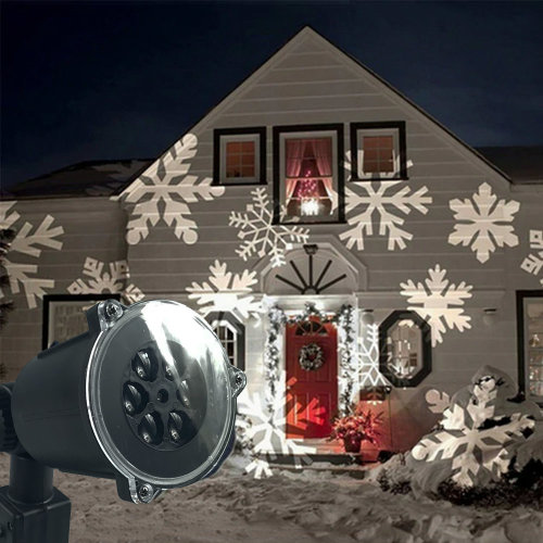 Shop At Home Christmas Outdoor Snowflake LED Projector Light